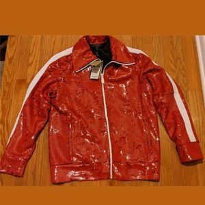 Mens Burberry Sequined Side Panel Bomber Jacket
